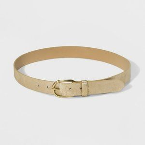 NWT Universal Thread Light Gold Vintage Belt XL